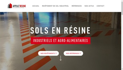 Site internet de Applic Resine SARL