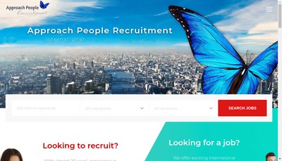Site internet de Approach People Recruitment SARL