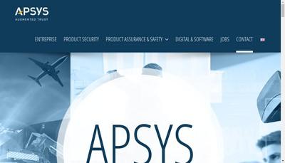 Site internet de Apsys