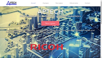Site internet de Aptech Groupe
