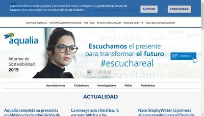 Site internet de Aqualia