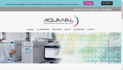 Site internet de Aquanal