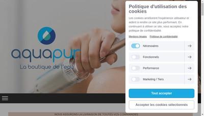 Site internet de Aquapur