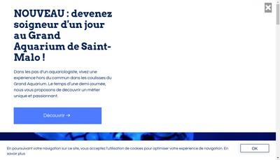 Site internet de Aquarium Geant de Saint Malo