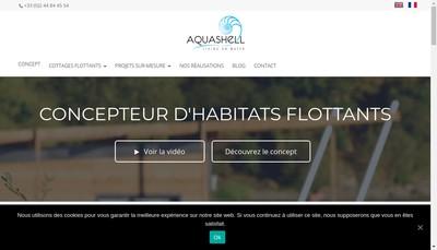 Site internet de Aquashell