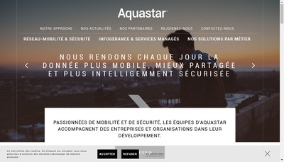 Site internet de Aquastar Consulting