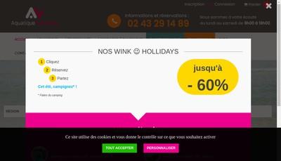 Site internet de Aquatique Vacances SARL
