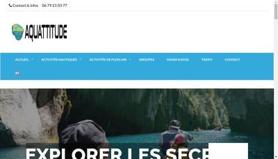 Site internet de Aquattitude