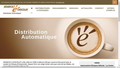 Site internet de Arabica E Chocolat