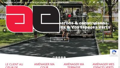 Site internet de Aravis Enrobage