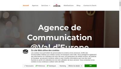 Site internet de Arbonel Communication