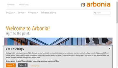 Site internet de Arbonia France