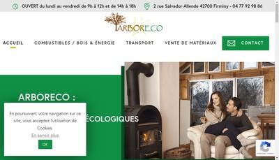 Site internet de Arboreco