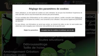 Site internet de Arbor Vert Paysage