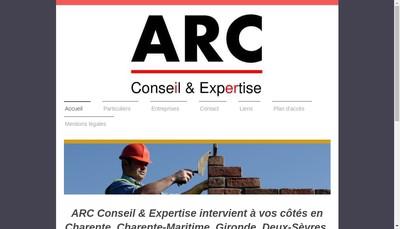 Site internet de Arc Conseil et Expertise