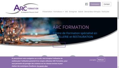 Site internet de Arc Formation