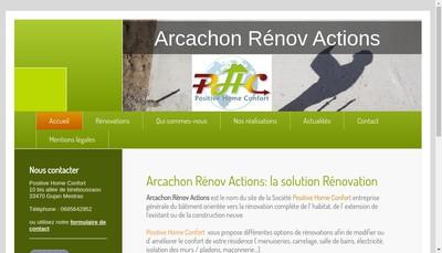 Site internet de PHC-Aquitaine