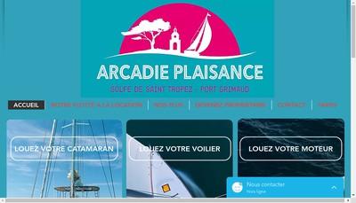 Site internet de Arcadie Plaisance Com