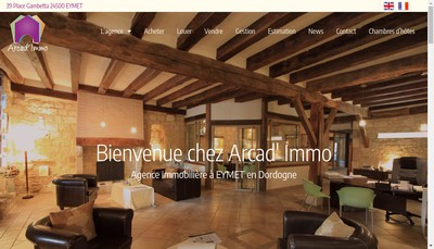 Site internet de Arcad ' Immo