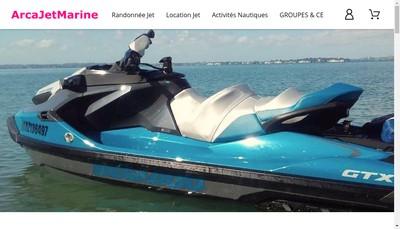 Site internet de Arcajetmarine - Arcachon Jet Marine - Arcajet