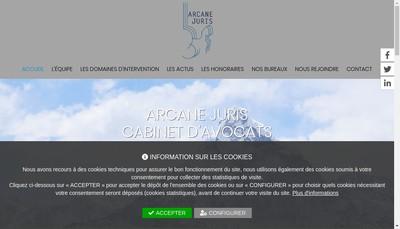 Site internet de Arcane Juris