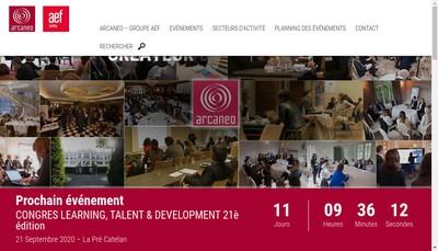 Site internet de Arcaneo