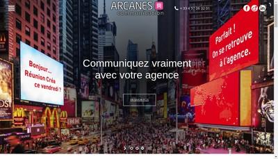 Site internet de Arcanes Communication