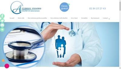 Site internet de Arcanes Reseau