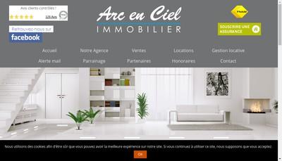 Site internet de Arc en Ciel Immobilier