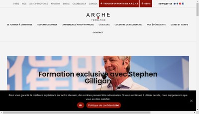 Site internet de Arche Formation