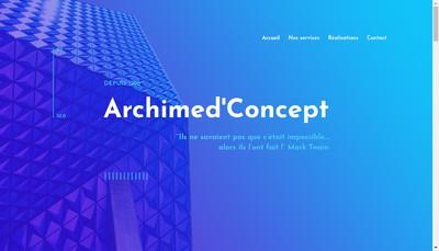 Site internet de Archimed'Concept