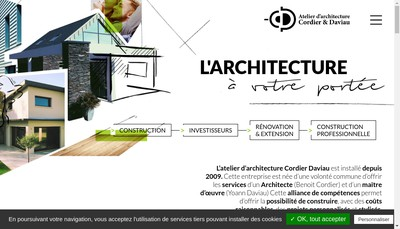 Site internet de Atelier d'Architecture Cordier-Daviau