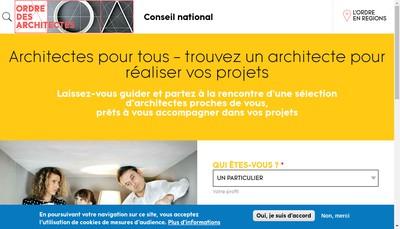 Site internet de Ad'Hoc Architecture J-M Costaz Architecte