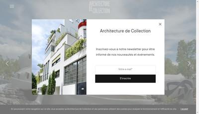 Site internet de Architecture de Collection