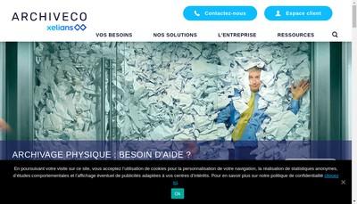 Site internet de Archiveco - Locarchives