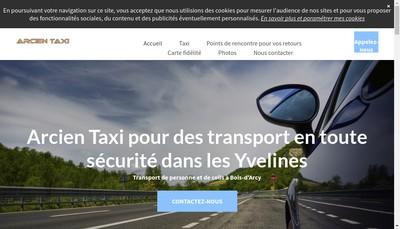 Site internet de Arcien Taxi