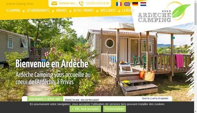Site internet de Ardeche Camping