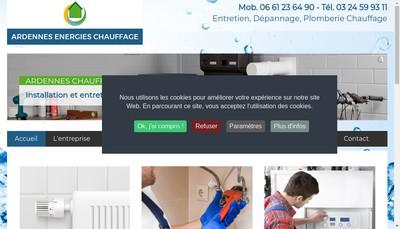 Site internet de Ardennes Energies Chauffage