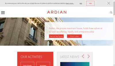 Site internet de Axa Private Equity