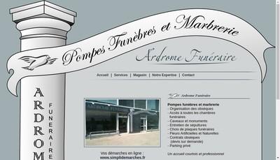 Site internet de Ardrome Funeraire