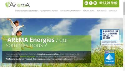 Site internet de Arema Energies