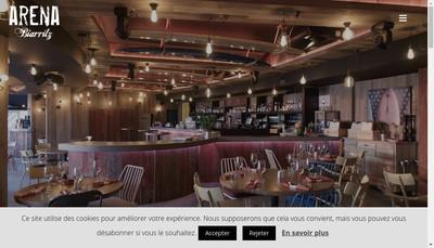 Site internet de Arena Cafe - Dolce Arena