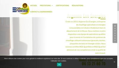 Site internet de Argonne Eco Energies
