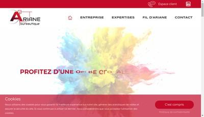 Site internet de Ariane Bureautique