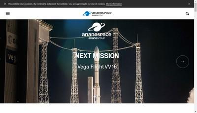 Site internet de Arianespace Participation