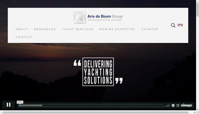 Site internet de Arie de Boom Services