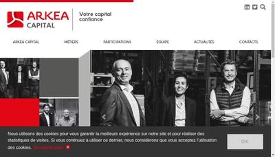 Site internet de Arkea Capital Gestion