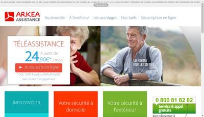 Site internet de Arkea Assistance