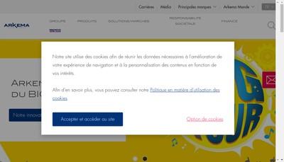 Site internet de Arkema Ameriques SAS