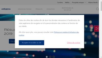 Site internet de Arkema France